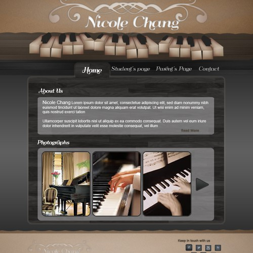 Nicole Chang Web page design