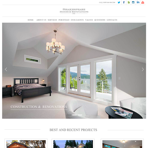 A website design for Vancouver construction and renovation experts
