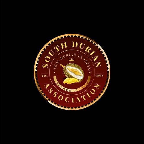 Classic luxurious durian logo
