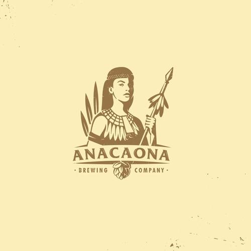mascot logo for anacaona