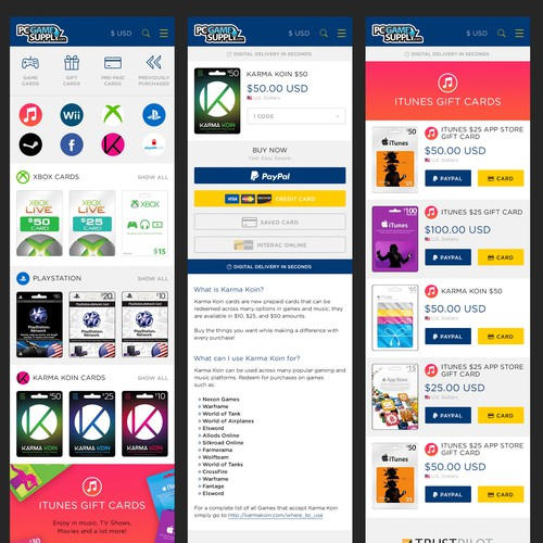 Mobile website design concept