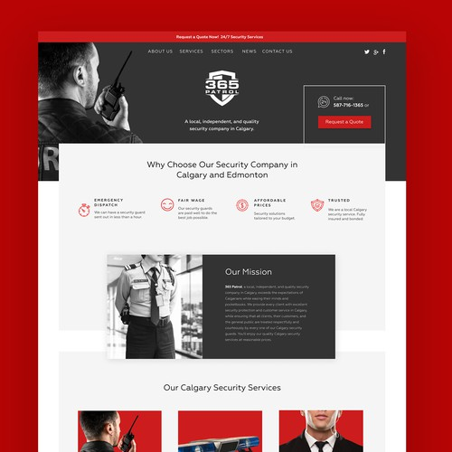 365 Patrol - Security Website
