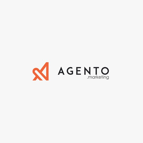 simple, sophisticated and modern logo for Agento.marketing