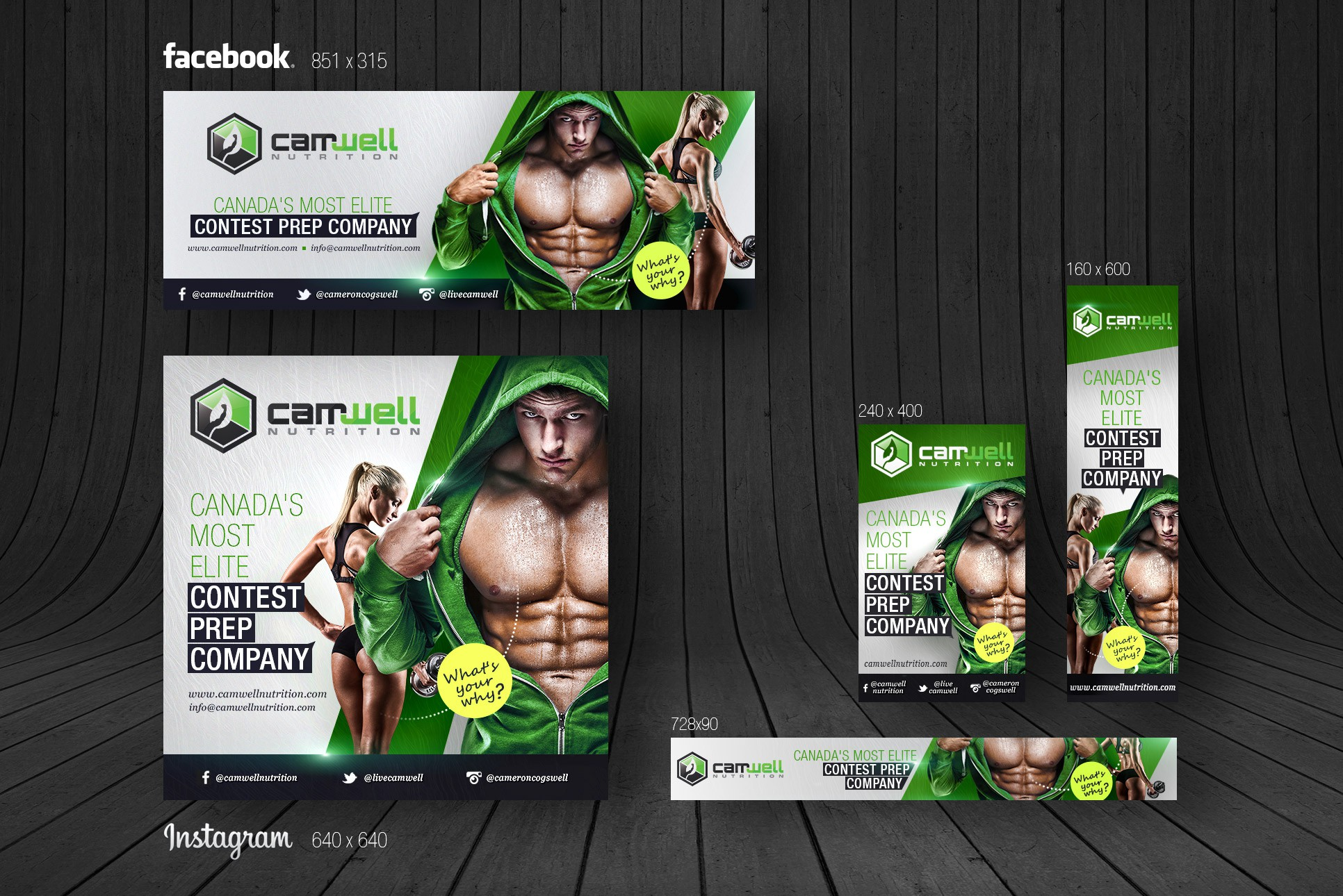 Design a fitness/nutrition ad to attract new clients for us!