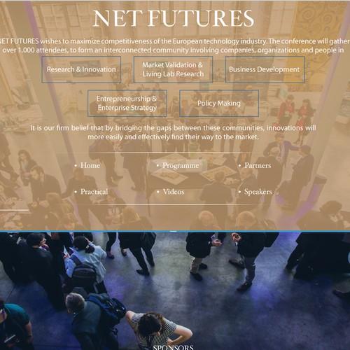 Web pages design for Conferences