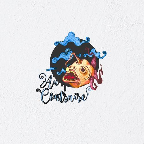Flying psychedelic piranha