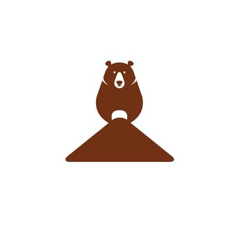 Brown funny bear