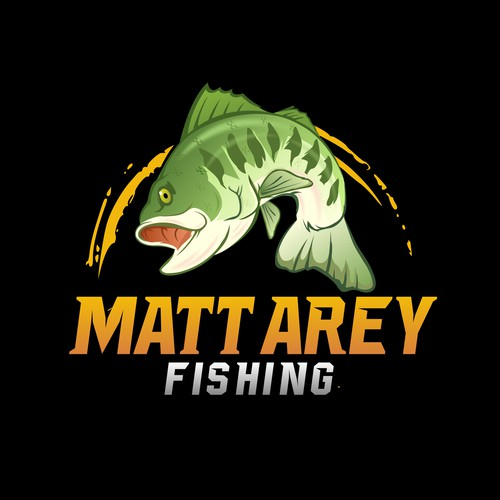 Bold logo for fishing industry