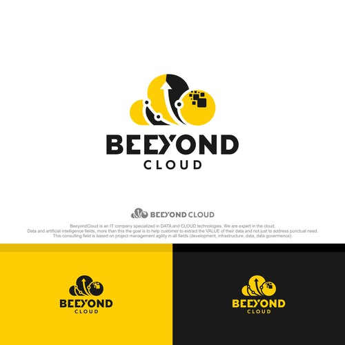Bold logo concept for BEEYOND CLOUD