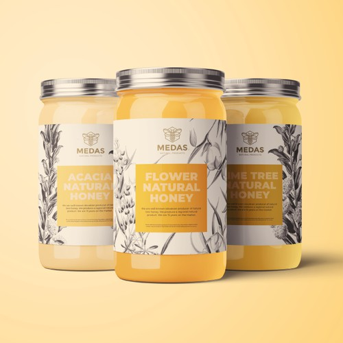 Honey Logo and Label for Medas