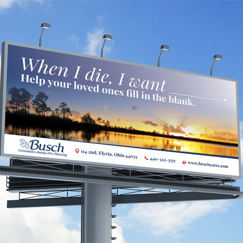 Busch Billboard Design