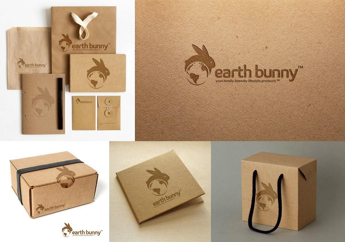 Create a fairytale/storybook family friendly Brand logo design for Earth Bunny