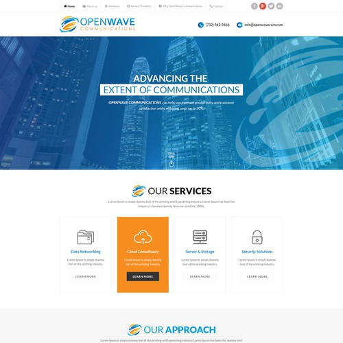 Modern Open Wave  Communications Website