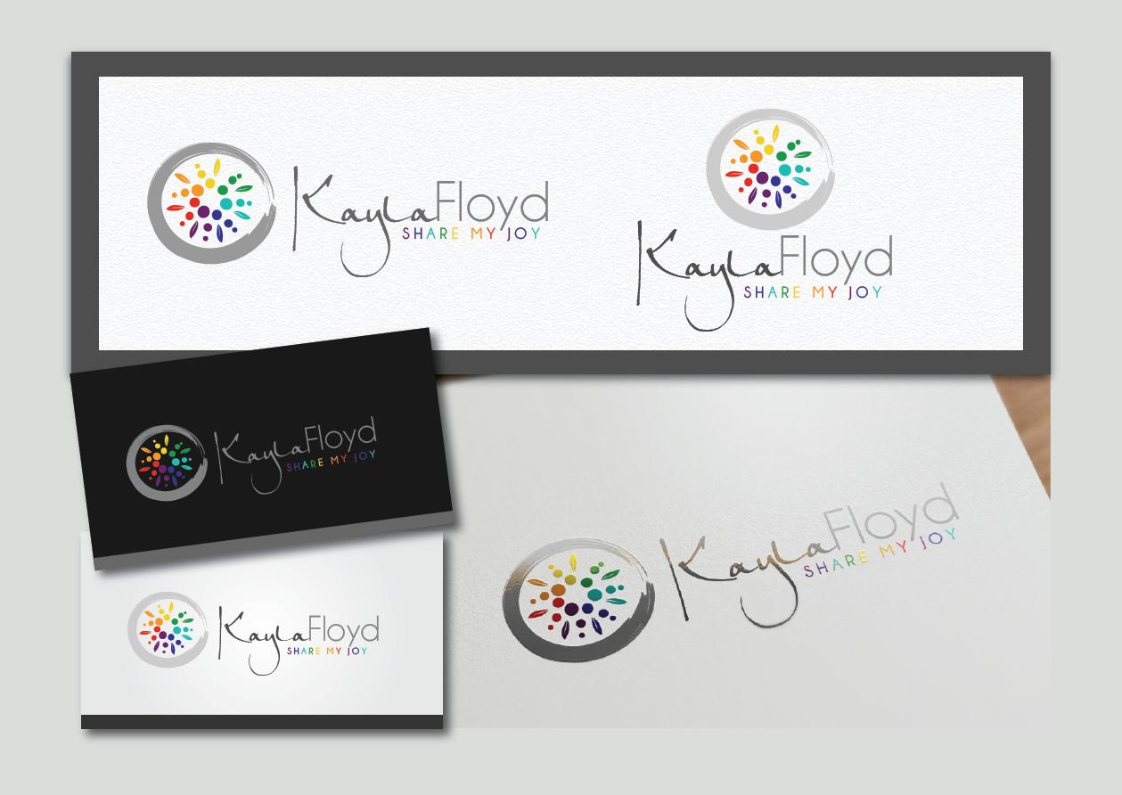 Inspired, JOYFUL logo for spiritual, heart-based life coaching business