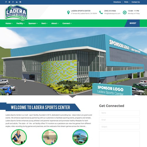 WordPress Design for Sports Facility