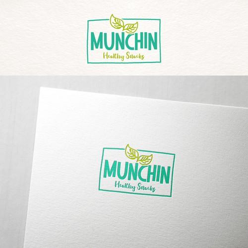 Catchy logo for Munchin snacks