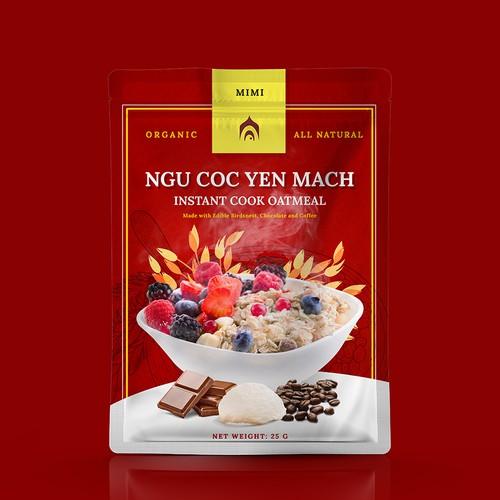 Premium Organic Oatmeal Package Design