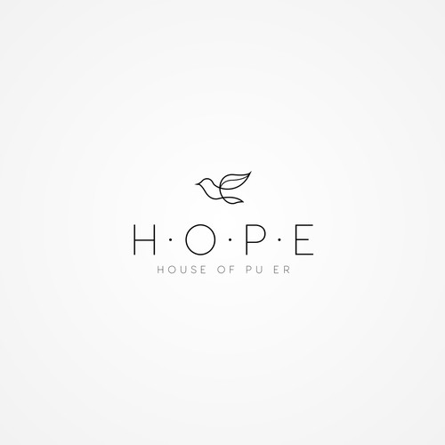 Clean and Simple Logo for a Tea Shop