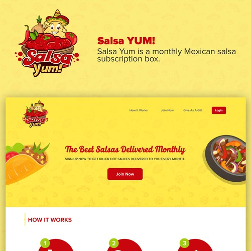 Landing Page for SalsaYum