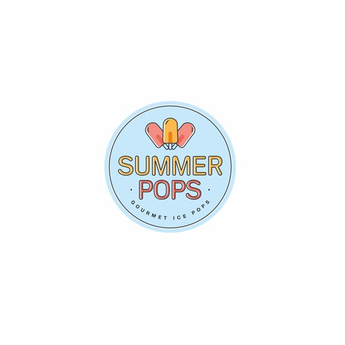 Summery popsicle logo