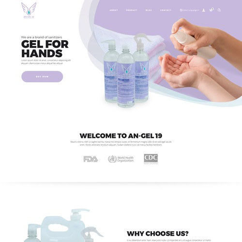 web design concept for AN-GEL 19