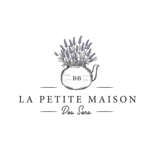 Logo design for a Bed and Breakfast in Provence, France.