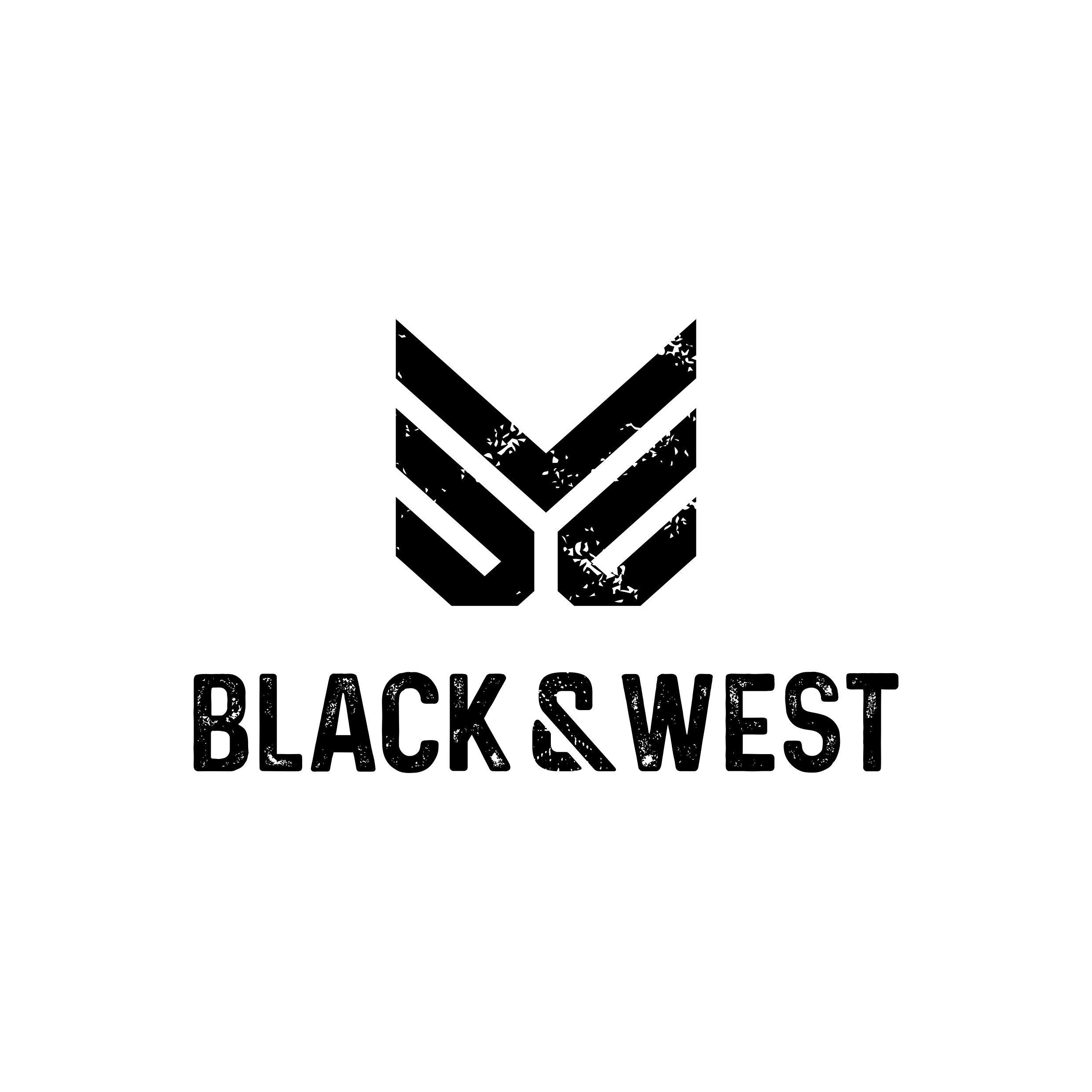 A logo for Black & West, a french luxury streetwear brand