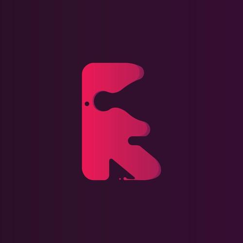 Dynamic Fluid Letter R