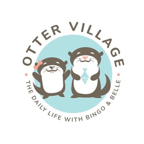 Cute Otter Logo