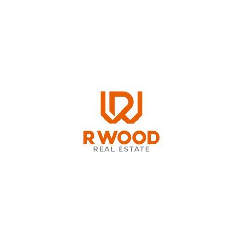 Bold R WOOD Logo