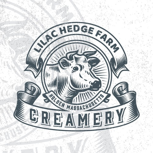 Badge logo design for LILAC HEDGE FARM