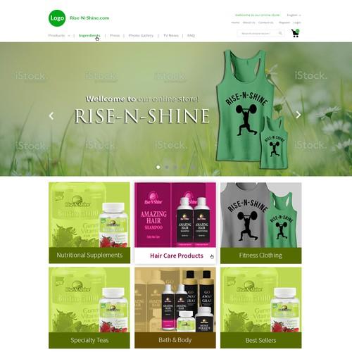 Modern E-commerce Home Page Design