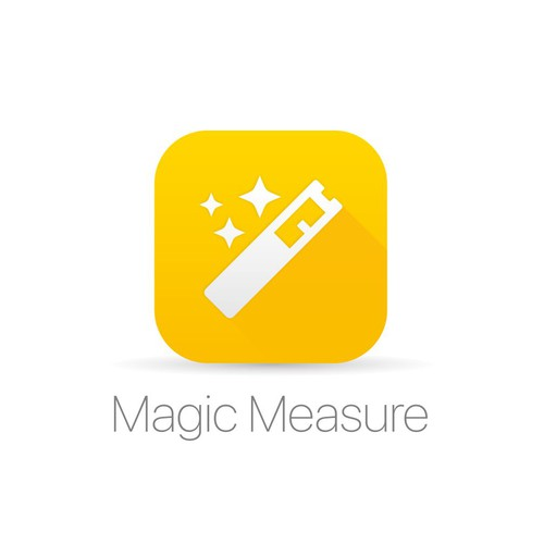 Clean and Iconic App Icon for Magic Measure