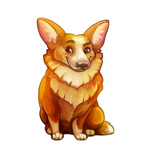 Fun dog mascot