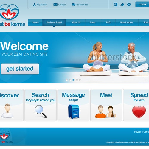 Mustbekarma - dating website design