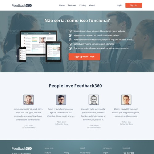 Web Design for Social Corporate Group