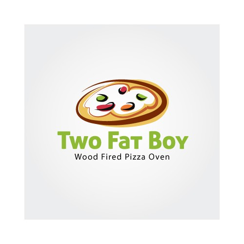 Help Two Fat Boys Wood Fired Pizza Oven with a new logo
