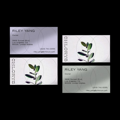 Business Card Design for CHLORYS Fashion Brand