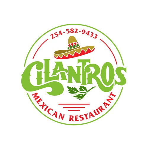 create a modern logo for cilantros with a tweest of vintage