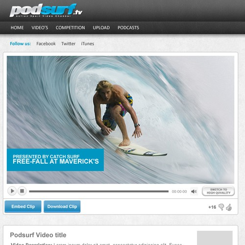 New Podsurf.tv website