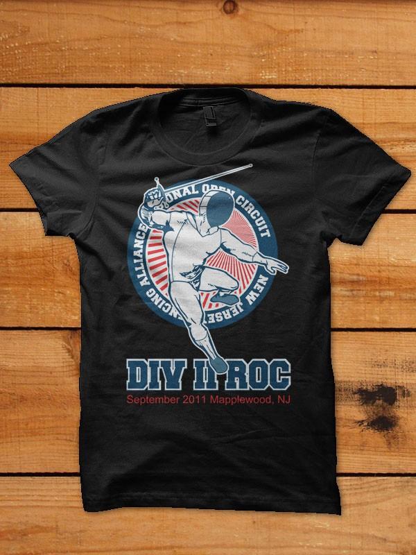 Fencing Tournament t-shirt design