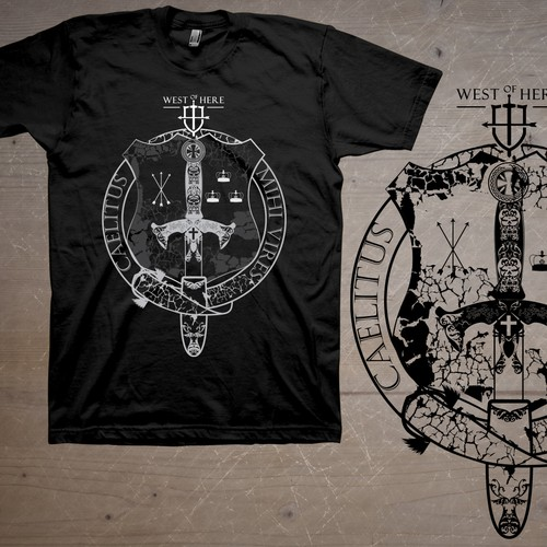 Medieval Christian theme t-shirt