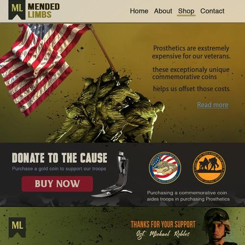 Mended Limbs Website Design