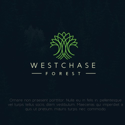 elegant and abstract tree logo