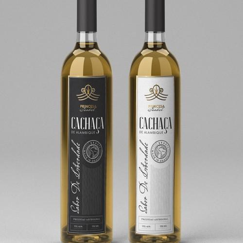 Cachaça label design