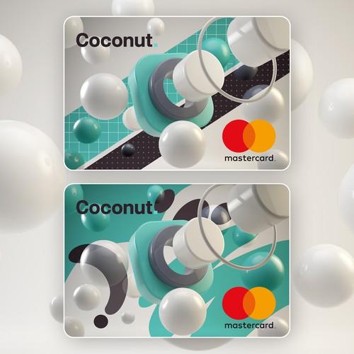 Coconut debit card design