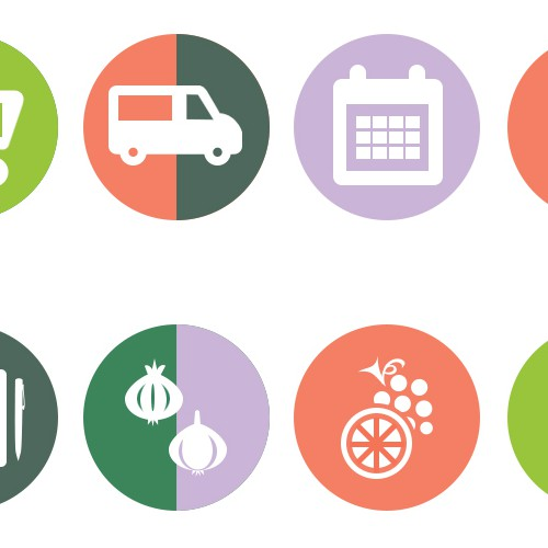 Icons for Fresh food