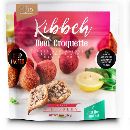 beef croquette packaging