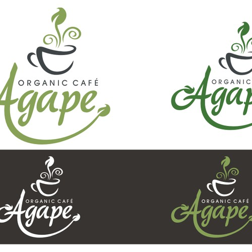 logo for an organic cafe
