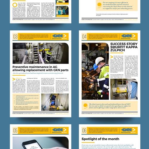 Newsletter Magazine Layout